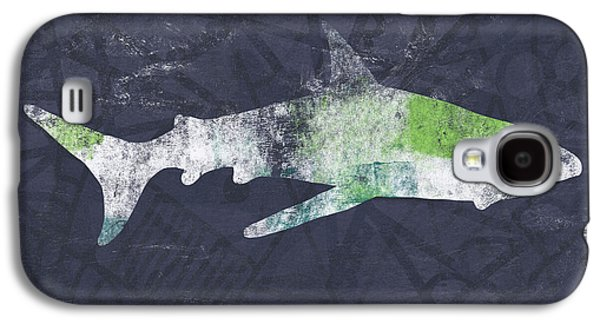 Sharks Galaxy S4 Case - Swimming With Sharks 3- Art By Linda Woods by Linda Woods
