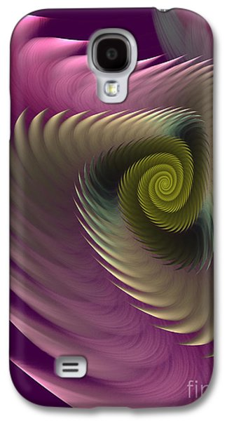 Swirl Of Purple Galaxy S4 Case by Deborah Benoit