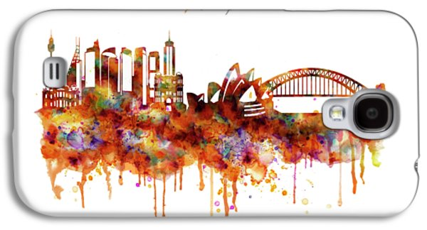 Sydney Watercolor Skyline Galaxy S4 Case