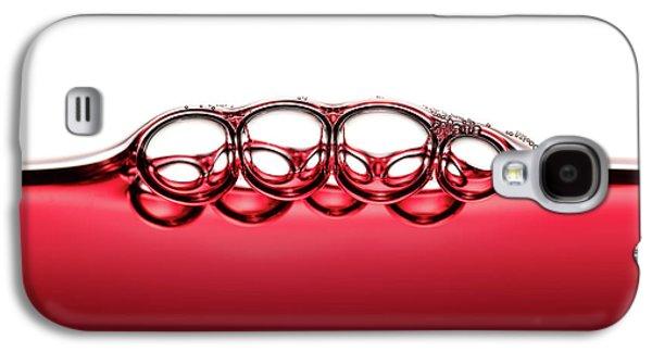 Symmetrical Red Wine Bubbles Galaxy S4 Case