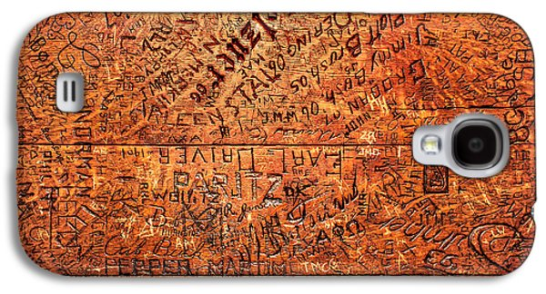 Table Graffiti Galaxy S4 Case by Todd Klassy