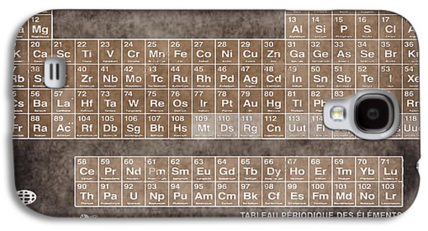 Tableau Periodiques Periodic Table Of The Elements Vintage Chart Sepia Galaxy S4 Case