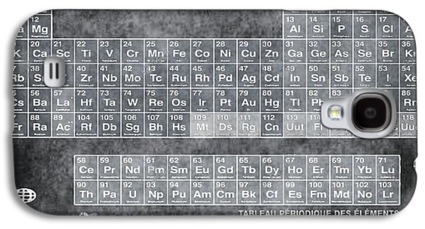 Tableau Periodiques Periodic Table Of The Elements Vintage Chart Silver Galaxy S4 Case