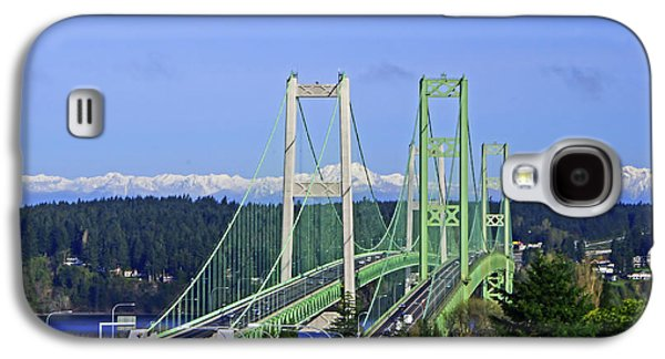 Tacoma Narrows Bridge With Olympic Mountains Galaxy S4 Case