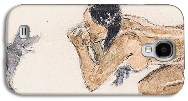 Tahitian Woman With Pig  Galaxy S4 Case