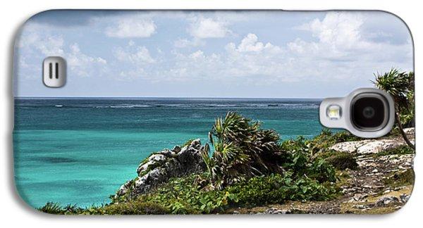 Animation Photographs Galaxy S4 Cases - Talum Ruins Mexico Ocean View Galaxy S4 Case by Douglas Barnett
