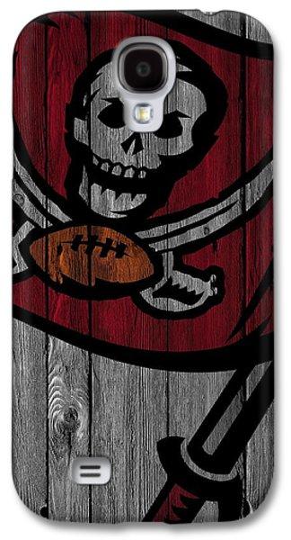 Tampa Bay Buccaneers Wood Fence Galaxy S4 Case by Joe Hamilton