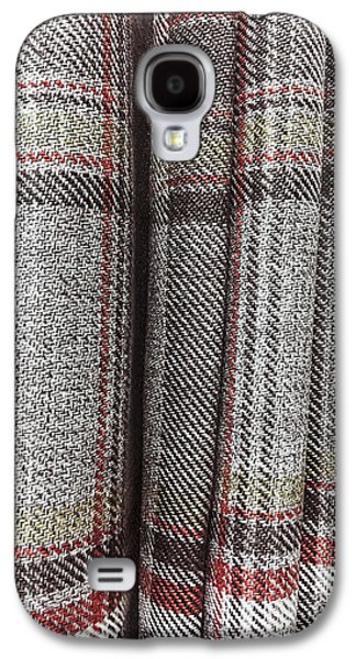 Tartan Curtain Pattern Galaxy S4 Case by Tom Gowanlock