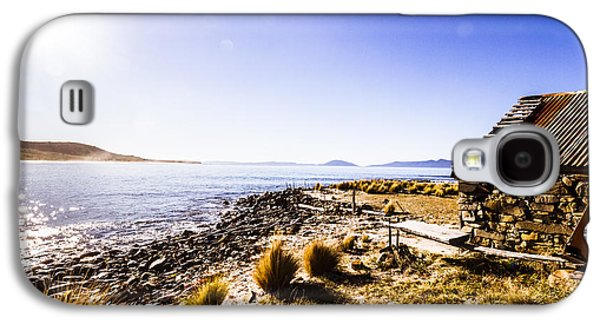 Tasmanian Boat Shed By The Ocean Galaxy S4 Case by Jorgo Photography - Wall Art Gallery