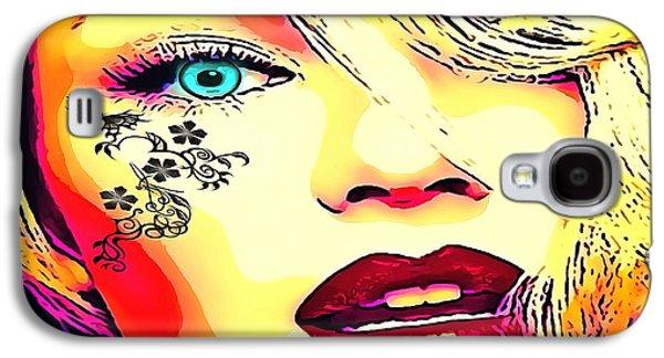 Tattooed Galaxy S4 Case by Catherine Lott