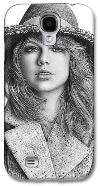 Taylor Swift Portrait Drawing Galaxy S4 Case by Shierly Lin