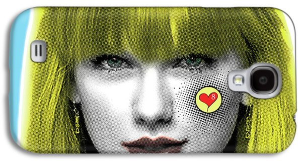 Taylor Swift, Pop Art, Portrait, Contemporary Art On Canvas, Famous Celebrities Galaxy S4 Case by Dr Eight Love