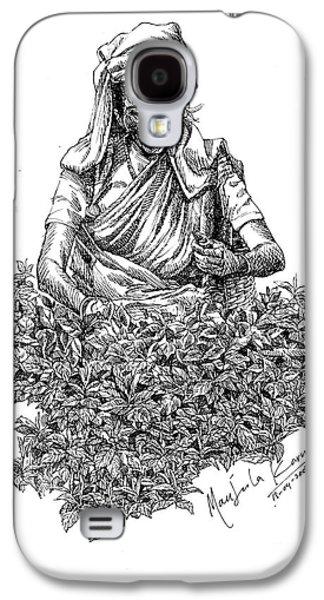 Tea Picker Galaxy S4 Case by Manjula Karunathilaka