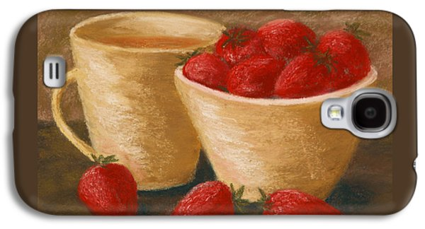 Tea With Strawberries Galaxy S4 Case