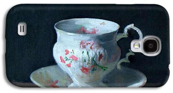Teacup And Saucer On Dark Background Galaxy S4 Case