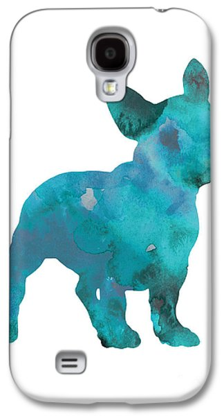 Teal Frenchie Abstract Painting Galaxy S4 Case by Joanna Szmerdt