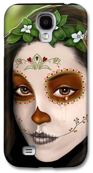 Teary Eyed Day Of The Dead Sugar Skull  Galaxy S4 Case