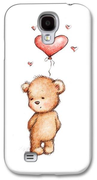 Teddy Bear With Heart Balloon Galaxy S4 Case