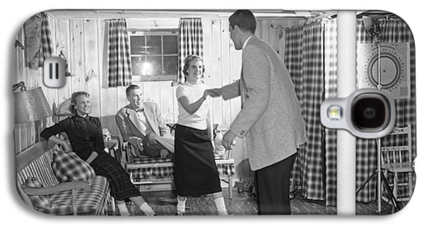 Teens Dancing In Rec Room, C.1950s Galaxy S4 Case by H. Armstrong Roberts/ClassicStock