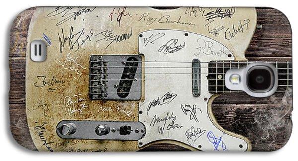Telecaster Guitar Fantasy Galaxy S4 Case by Mal Bray