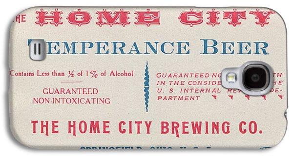 Temperance Beer Label Galaxy S4 Case