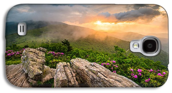 Mountain Sunset Galaxy S4 Case - Tennessee Appalachian Mountains Sunset Scenic Landscape Photography by Dave Allen
