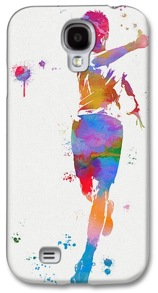 Tennis Player Paint Splatter Galaxy S4 Case by Dan Sproul