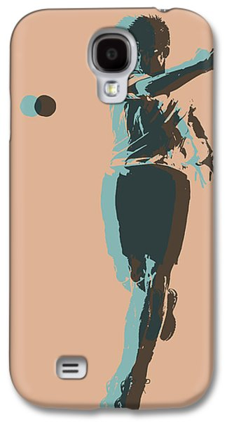 Tennis Player Pop Art Poster Galaxy S4 Case by Dan Sproul