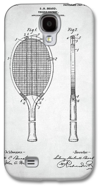 Serena Williams Galaxy S4 Case - Tennis Racket Patent 1907 by Taylan Apukovska