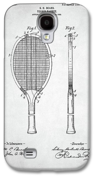 Tennis Racket Patent 1907 Galaxy S4 Case by Taylan Apukovska