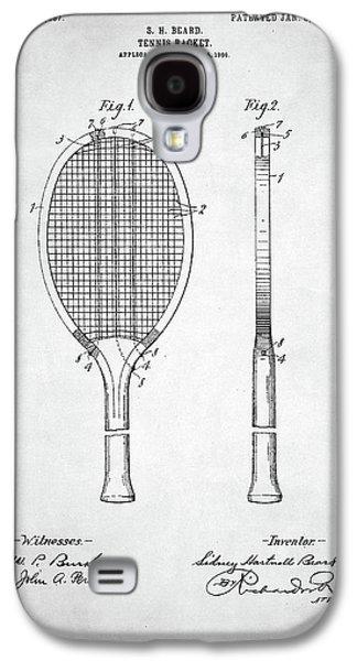 Tennis Racket Patent 1907 Galaxy S4 Case by Taylan Apukovska