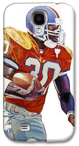 Terrell Davis - Denver Broncos  Galaxy S4 Case by Michael Pattison