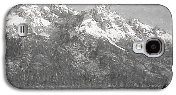 Teton Range Charcoal Sketch Galaxy S4 Case