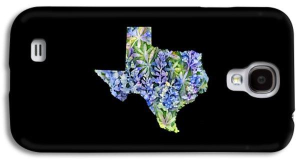 Texas Blue Texas Map On White Galaxy S4 Case by Hailey E Herrera