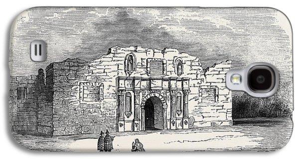 Texas  Church Of Alamo, San Antonio De Bexar Galaxy S4 Case by American School