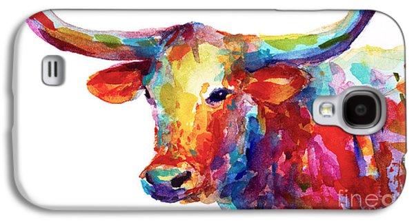 Texas Longhorn Art Galaxy S4 Case by Svetlana Novikova
