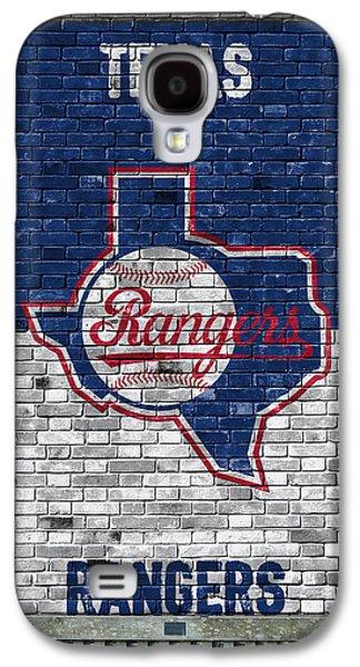 Texas Rangers Brick Wall Galaxy S4 Case by Joe Hamilton