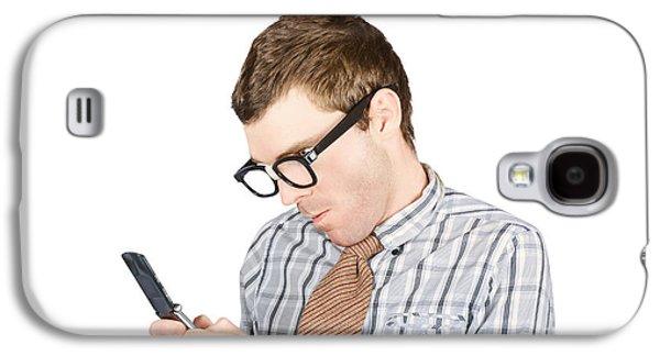 Text Messaging Nerd Galaxy S4 Case