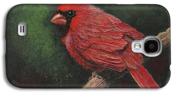 Textured Cardinal Galaxy S4 Case by Janet King