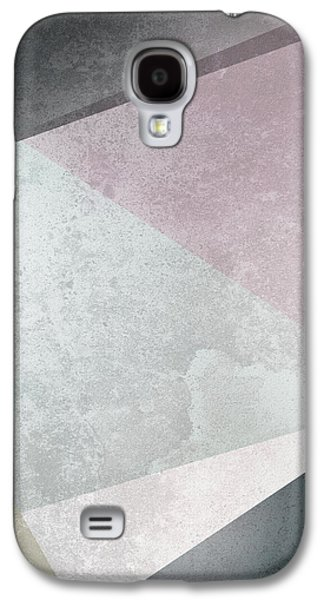 Rose Galaxy S4 Case - Textured Geometric Triangles by Pati Photography