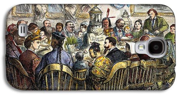 Thanksgiving Cartoon, 1869 Galaxy S4 Case