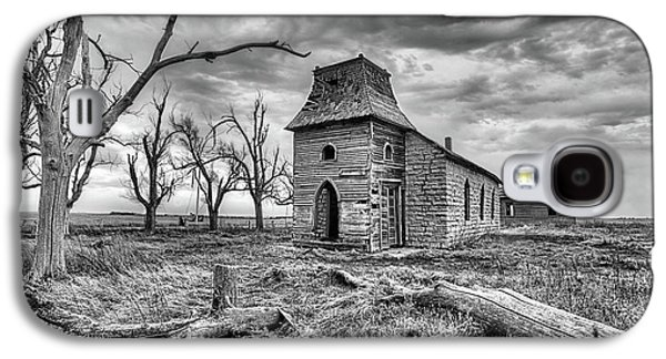 Galaxy S4 Case featuring the photograph That Old Time Religion Black And White by JC Findley