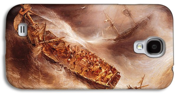 The Act Of Sacrifice Made By Captain Desse Towards The Dutch Ship Columbus Galaxy S4 Case by Jean Antoine Theodore Gudin