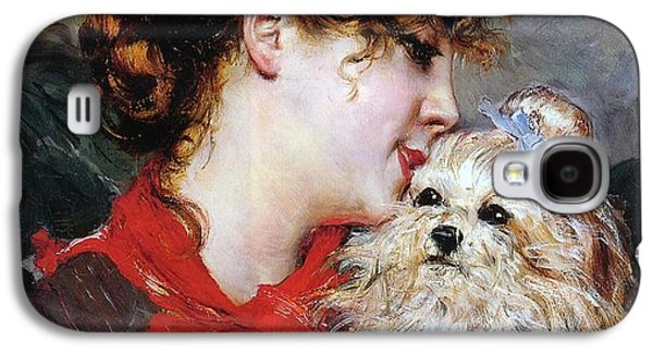 Charlotte Galaxy S4 Case - The Actress Rejane And Her Dog by Giovanni Boldini