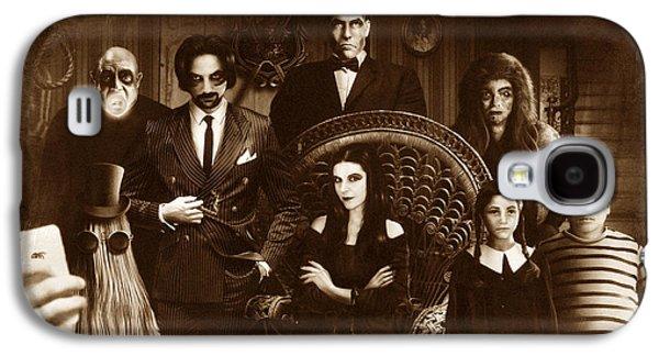 The Addams Family Sepia Version Galaxy S4 Case by Alessandro Della Pietra