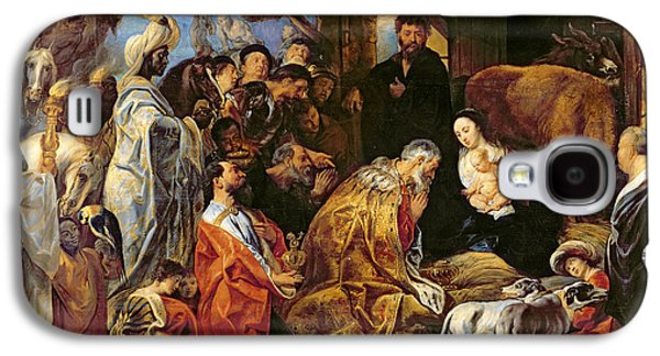 The Adoration Of The Magi Galaxy S4 Case by Jacob Jordaens
