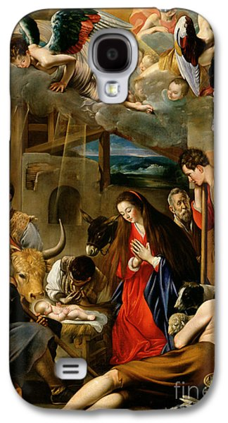 Manger Galaxy S4 Cases - The Adoration of the Shepherds Galaxy S4 Case by Fray Juan Batista Maino or Mayno
