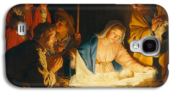 The Adoration Of The Shepherds Galaxy S4 Case by Gerrit van Honthorst