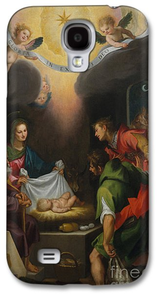 The Adoration Of The Shepherds With Saint Catherine Of Alexandria Galaxy S4 Case