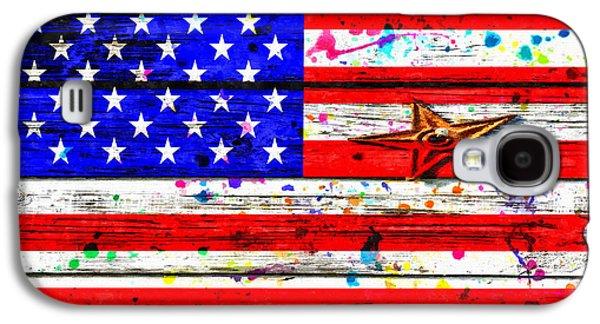 The American Flag Grunge Galaxy S4 Case